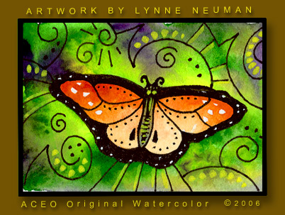 Orange Butterfly Painting